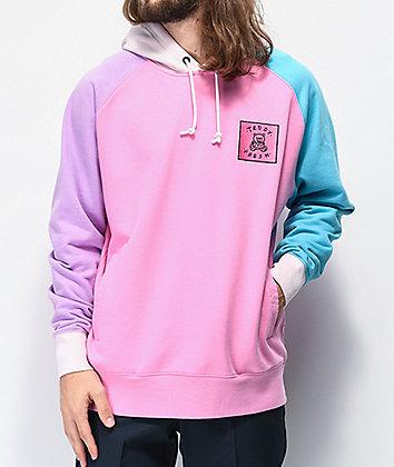Teddy Fresh Colorblock Pink Hoodie
