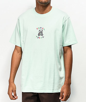 Teddy Fresh Embroidery Aqua Green T-Shirt
