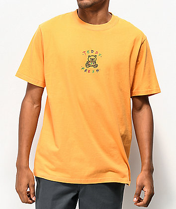 Teddy Fresh Embroidery Melon Orange T-Shirt