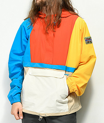 Teddy Fresh Patches Colorblocked Anorak Jacket