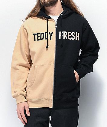 Teddy Fresh Split Black & Tan Hoodie