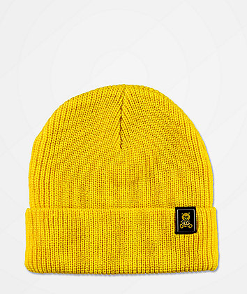 Teddy Fresh Ted Logo Yellow Beanie