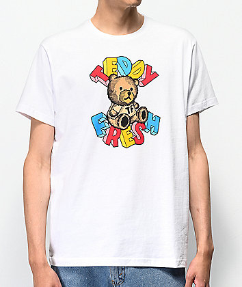 Teddy Fresh Teddy Blocks White T-Shirt