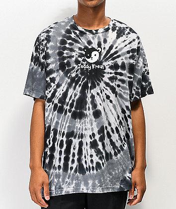 Teddy Fresh Yin Yang Ted Black Tie Dye T-Shirt