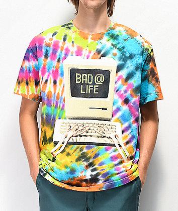 Teenage Bad @ Life Multicolor Tie Dye T-Shirt