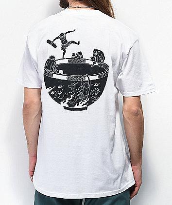 Temple Of Skate Devil Bowl White T-Shirt