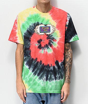 Thank You Buds Multi Tie Dye T-Shirt
