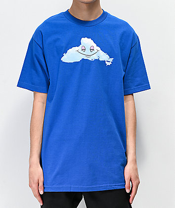 Thank You Head In The Clouds Blue T-Shirt