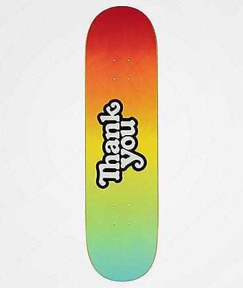 """Thank You Tie Dye 8.25"""" Skateboard Deck"""