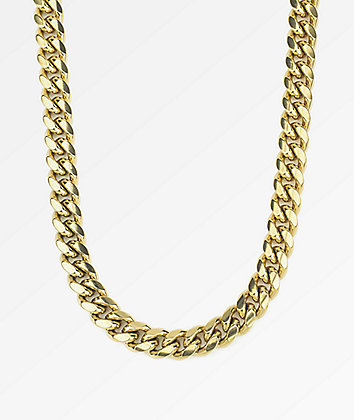 "The Gold Gods 10mm Miami Cuban 24"" Gold Chain Necklace"