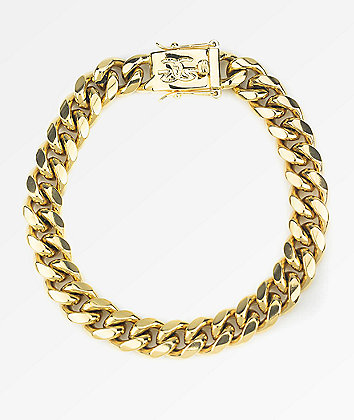The Gold Gods 10mm Miami Cuban Link Gold Bracelet