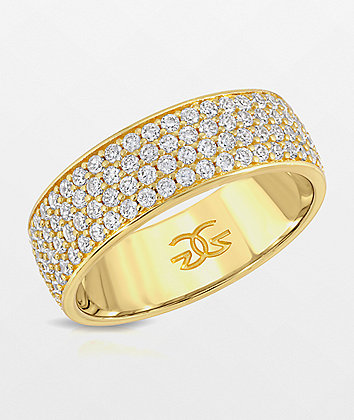 The Gold Gods 4 Row Eternity Ring