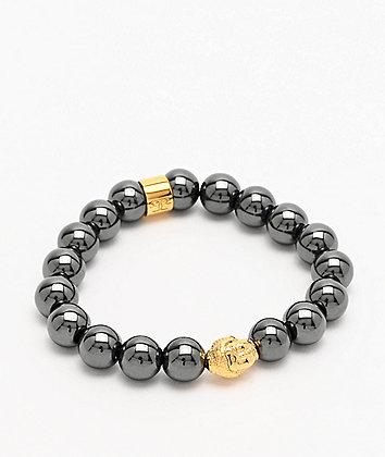 The Gold Gods Buddha Beaded Hematite Bracelet