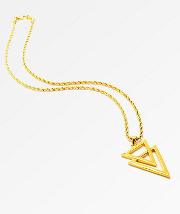 "The Gold Gods Dual Arrow 22"" Rope Necklace"