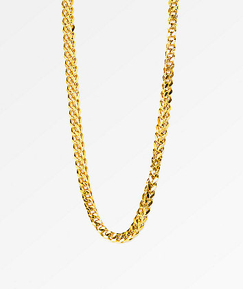 "The Gold Gods Franco Box Chain 28""  Necklace"