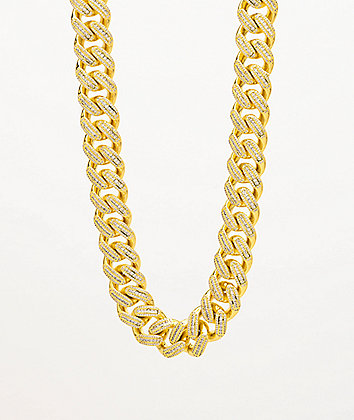 "The Gold Gods Miami Cuban 18"" Diamond Gold Chain Necklace"