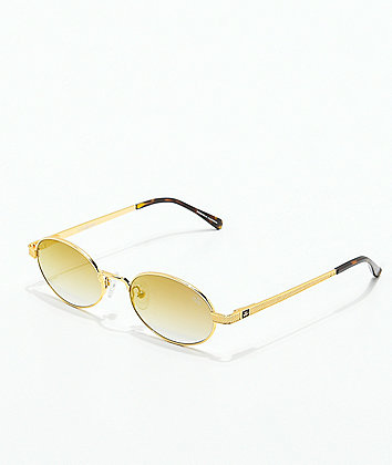 The Gold Gods The Ares Brown Gradient Sunglasses