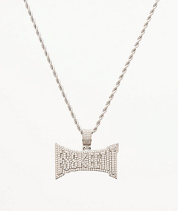 "The Gold Gods x Lil Pump Esskeetit 22"" White Gold Necklace"
