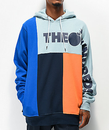 The Hundreds Barter Blue Colorblock Hoodie