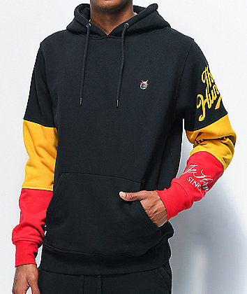 The Hundreds Hollow Black, Red & Yellow Hoodie