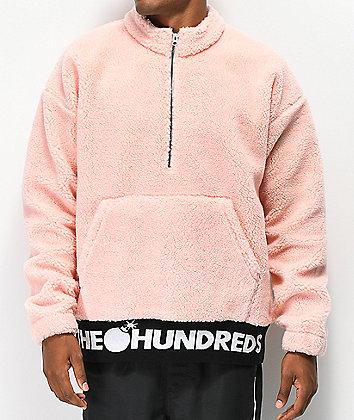 The Hundreds Nepal Pink Half-Zip Sweatshirt