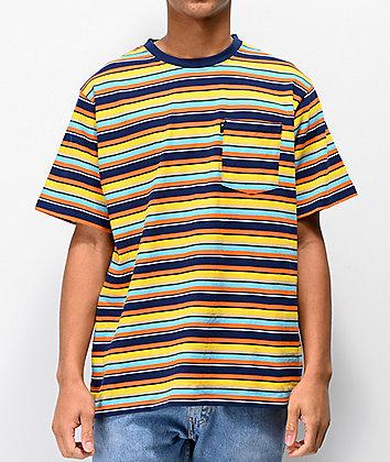 The Hundreds Varden Blue, Yellow, & Orange Striped T-Shirt
