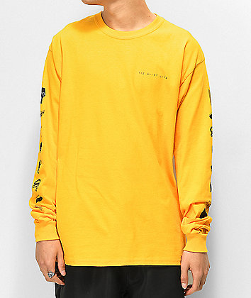 The Quiet Life x Beth Hoeckel Gold Long Sleeve T-Shirt