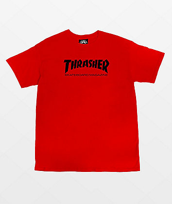Thrasher Boys Mag Red T-Shirt