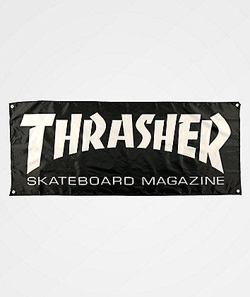 Thrasher Skate Mag Black Banner
