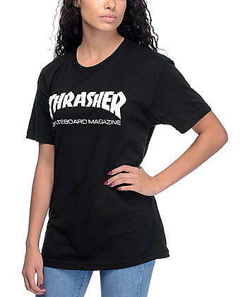 Thrasher Skate Mag Black Boyfriend Fit T-Shirt
