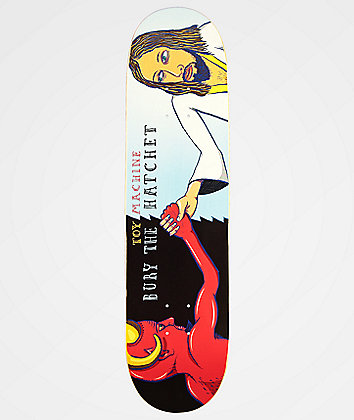 "Toy Machine Bury The Hatchet 8.0"" Skateboard Deck"