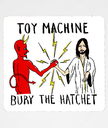 Toy Machine Bury The Hatchet Sticker