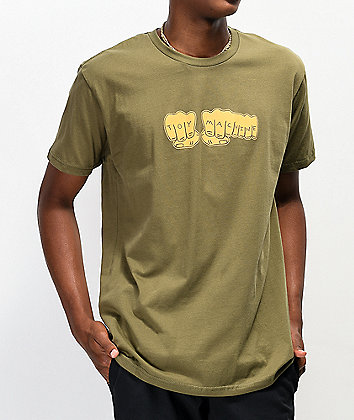 Toy Machine Fist Army Green T-Shirt