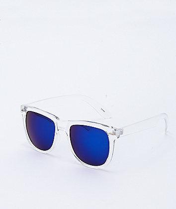 Transparent & Blue Revo Wayfarer Sunglasses