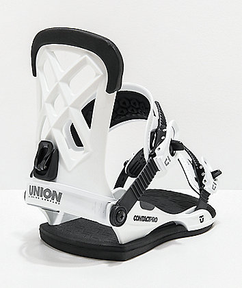 Union Contact Pro White Snowboard Bindings 2020