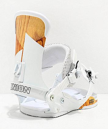 Union Force White Snowboard Bindings 2020