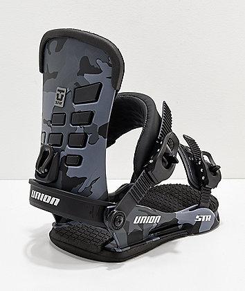 Union STR Black Camo Snowboard Bindings 2019