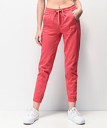 Unionbay Caylee Pink Sateen Jogger Pants