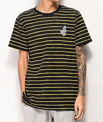 Utmost Denis Striped Black T-Shirt