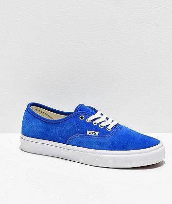 Vans Authentic Pig Suede Princess Blue Skate Shoes