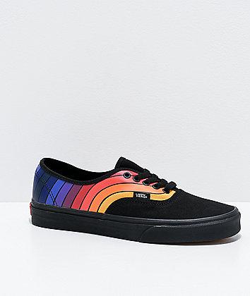 Vans Authentic Refract Black, Orange & Purple Skate Shoes