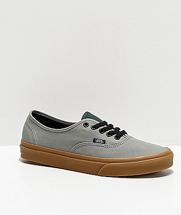 Vans Authentic Shadow Green & Gum Skate Shoes
