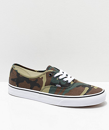 Vans Authentic Woodland Camo Skate Shoes