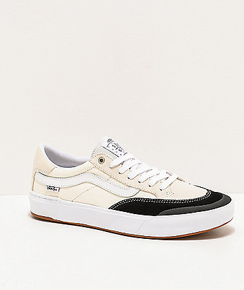 Vans Berle Pro Marshmallow & Black Skate Shoes
