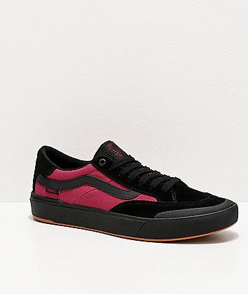 Vans Berle Pro Punk Black & Beet Red Skate Shoes