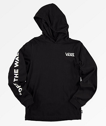 Vans Boys Van Doren Hooded Black Knit Shirt
