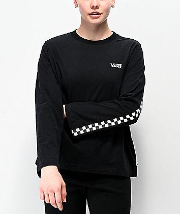 Vans Break Black & White Checkerboard Long Sleeve T-Shirt
