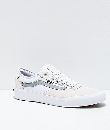 Vans Chima Pro 2 Reflective Grey & White Skate Shoes