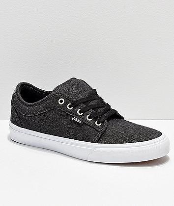 Vans Chukka Low Black Pewter Denim Skate Shoes