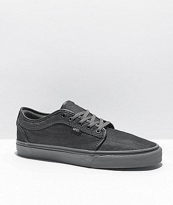 Vans Chukka Low Dark Grey Canvas & Pewter Skate Shoes